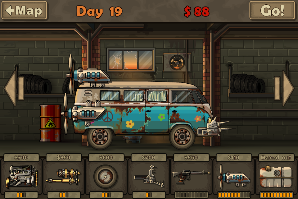 jeux de voiture zombie earn to die 1