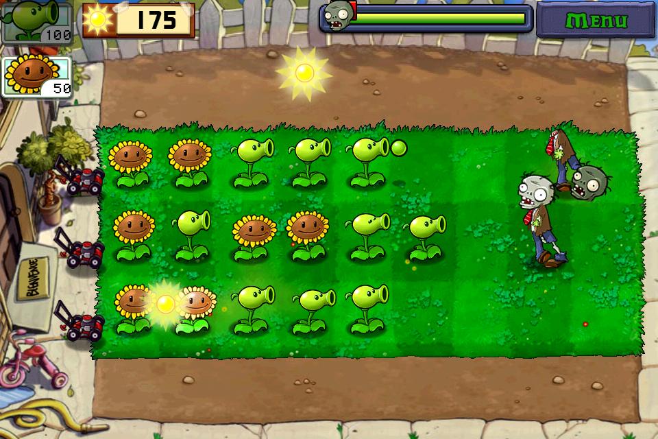 Plante Contre Zombie http://jeuxvideomobile.com/iphone/plantes-contre