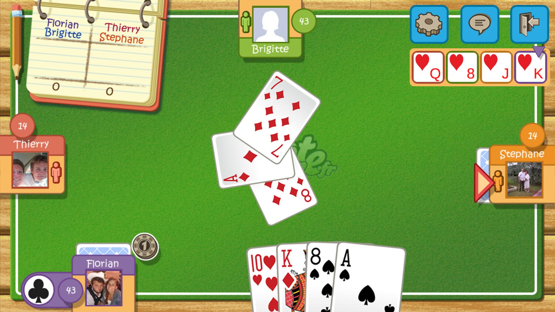 jeu de carte a deux belote en ligne gratuit. Black Bedroom Furniture Sets. Home Design Ideas