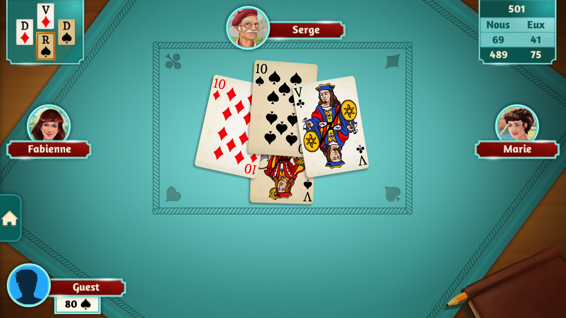 jeux de belote contrée gratuit
