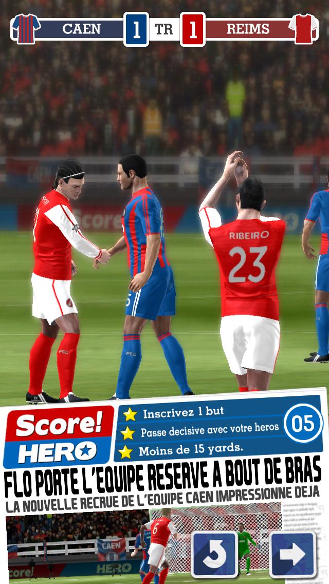 Le gameplay captivant en 3D de Score! vous assure un contrôle total de l'action. Percez les défenses adverses grâce à votre conduite de balle hors du commun, ou brossez vos frappes en pleine lucarne, le tout dans une expérience de jeu sur mobile sans précédent.