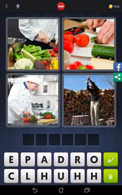 4 images 1 mot cuisinier d couper cuisine fendre for Cuisinier francais 6 lettres