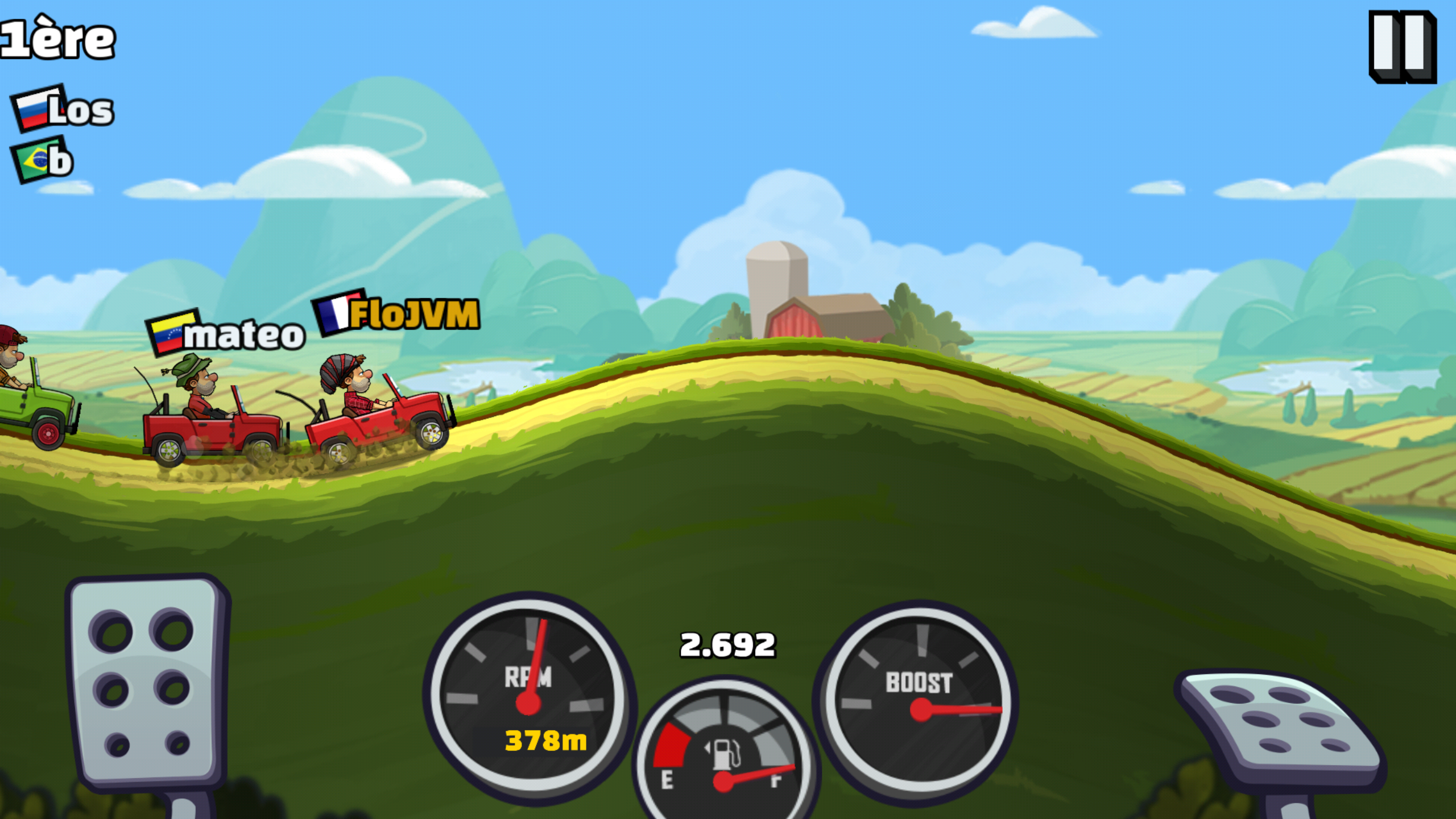 Jeux hill climb racing jouer