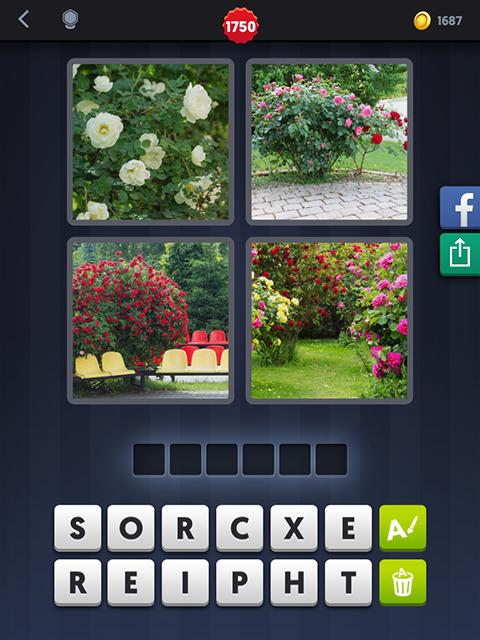 4 Images 1 Mot Fleurs Roses Sieges Jardin Android Iphone
