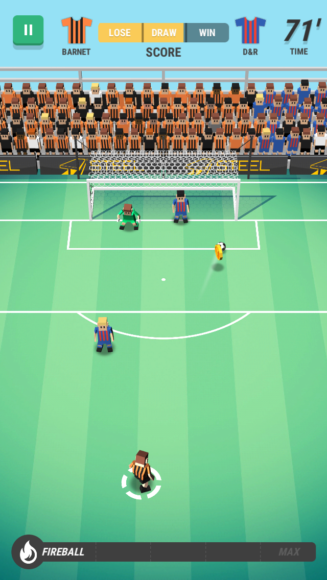 Dans Score ! Hero, le joueur ne contrôle pas une équipe complète, mais incarne un jeune footballeur professionnel en quête de gloire.